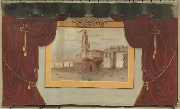 Peinture du rideau de scène de Penhold
