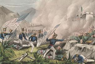 L'assaut de la forteresse de Chapultepec