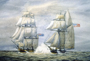 La capture du Snap Dragon par Le Martin, 1813