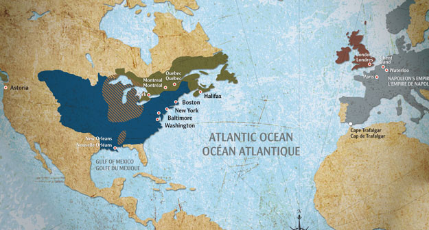 Guerre de 1812 Carte du Monde