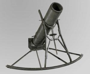 Mortier de tranchée allemand Albrecht de 40 millimètres