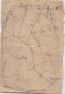 Carte des tranchées de Vimy
