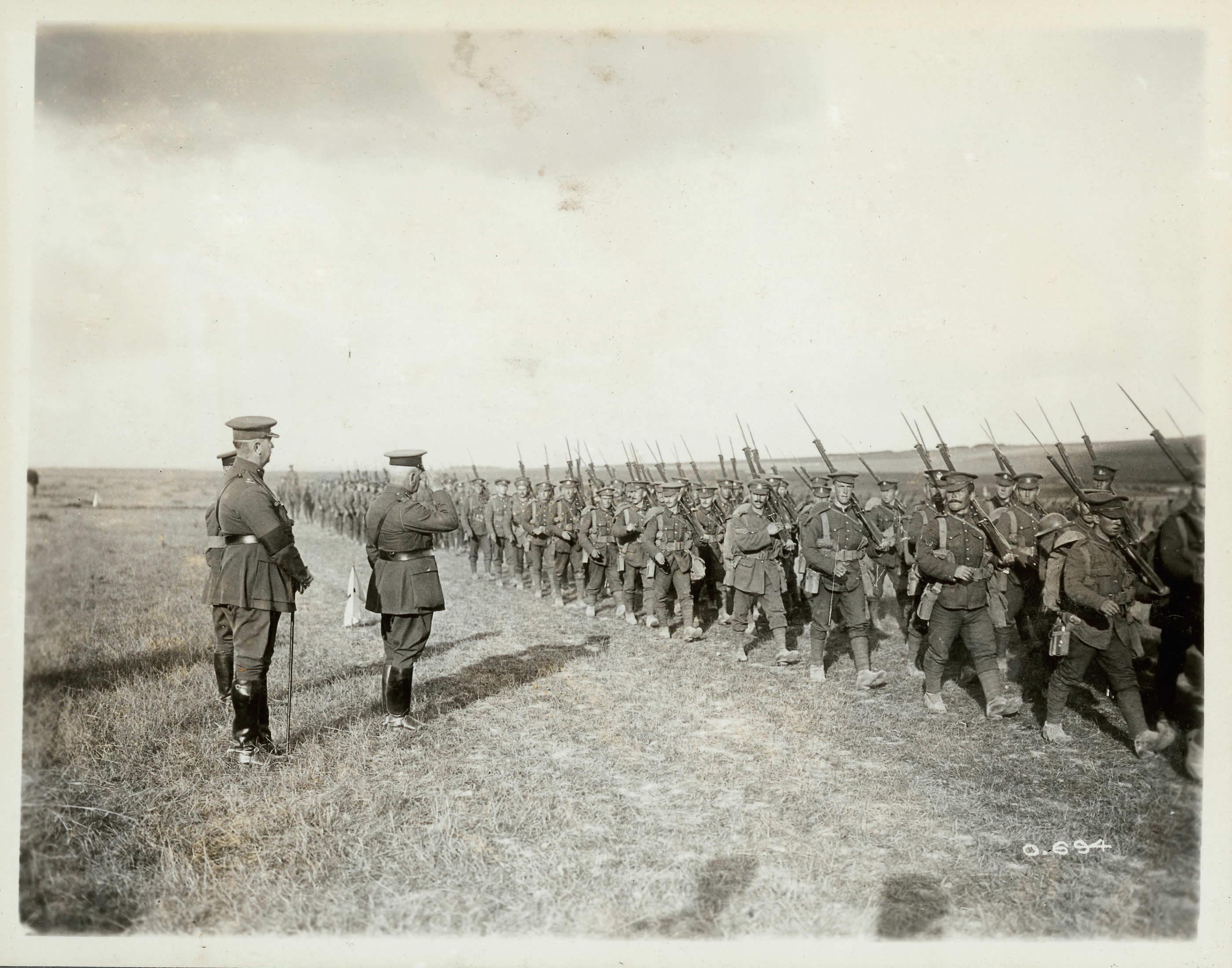 Le Corps canadien, été 1916