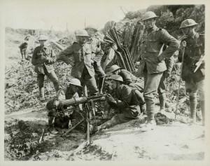 Essai d'une mitrailleuse Vickers
