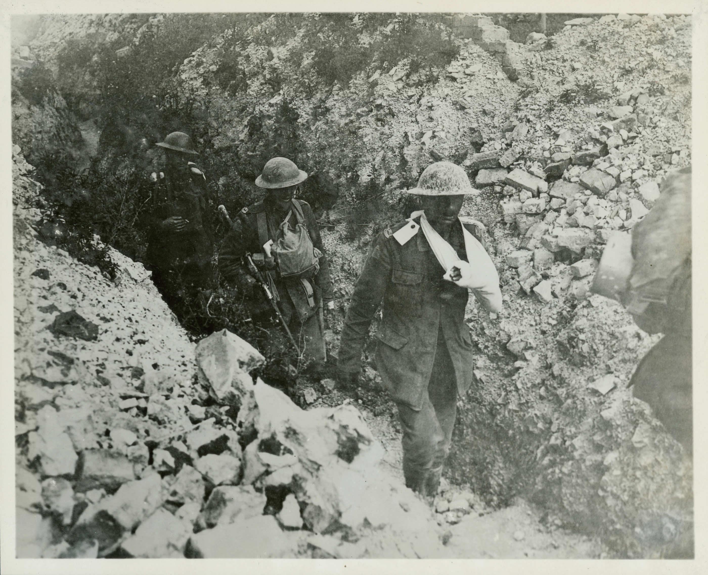 Après un raid dans les tranchées