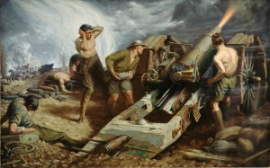 Artillerie canadienne à l'oeuvre