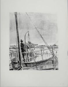 Canon d'avant sur un bateau patrouilleur