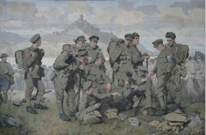 Canadiens arrivant sur le Rhin