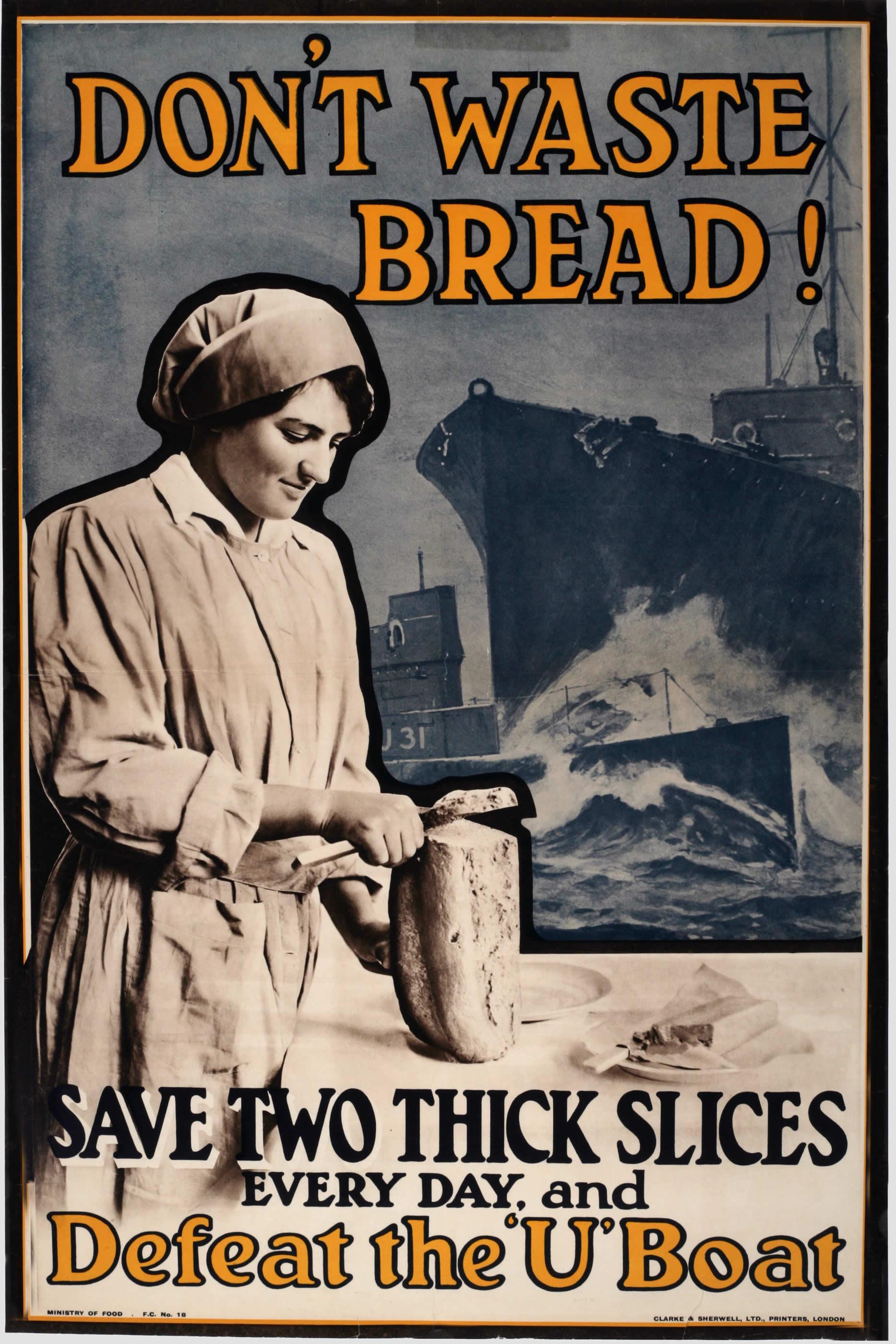 <i>Ne gaspillez pas le pain!</i>