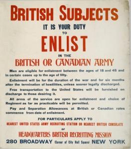 Enrôler dans l'armée britannique ou l'armée canadienne