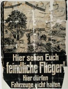 Affiche d'information allemande sur les raids aériens