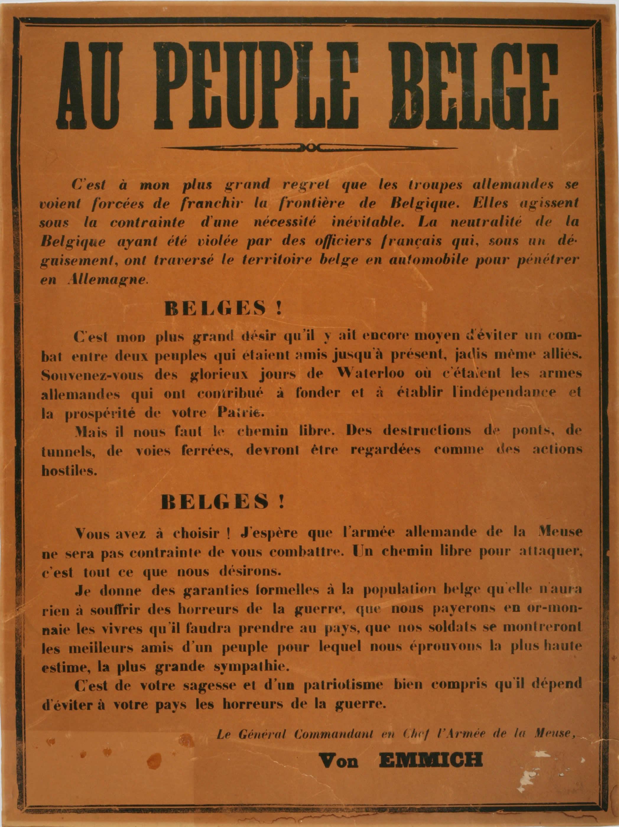 <i>Au peuple belge</i>