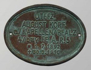Stèle funéraire allemande