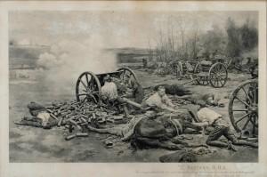 Batterie «L», R.H.A. Retraite de Mons, 1er septembre 1914.