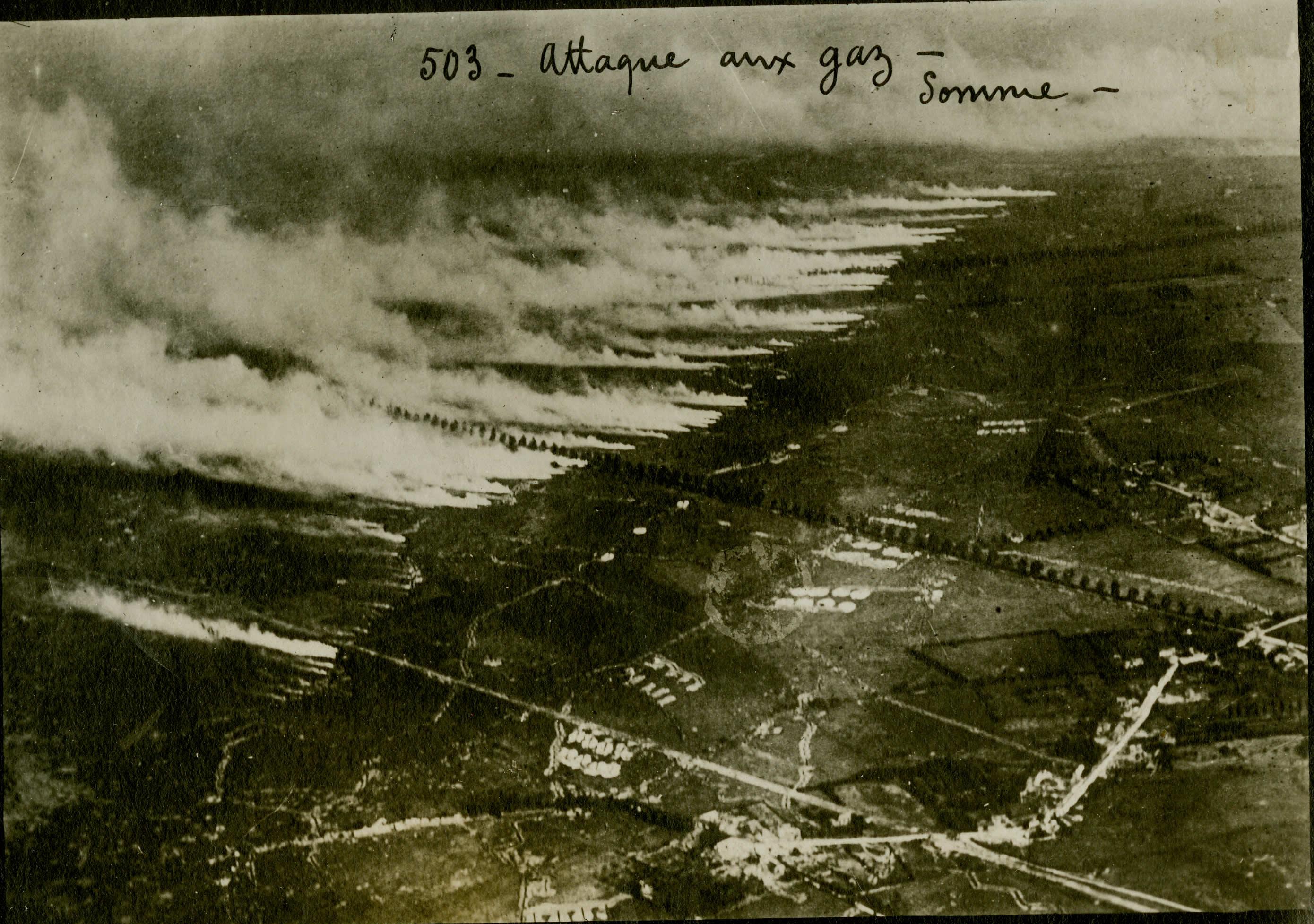 Attaque au gaz sur la Somme