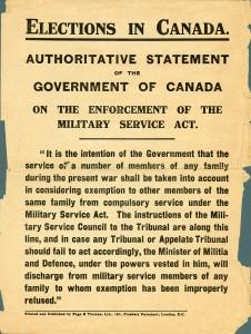 Entrée en vigueur de la Loi du Service Militaire