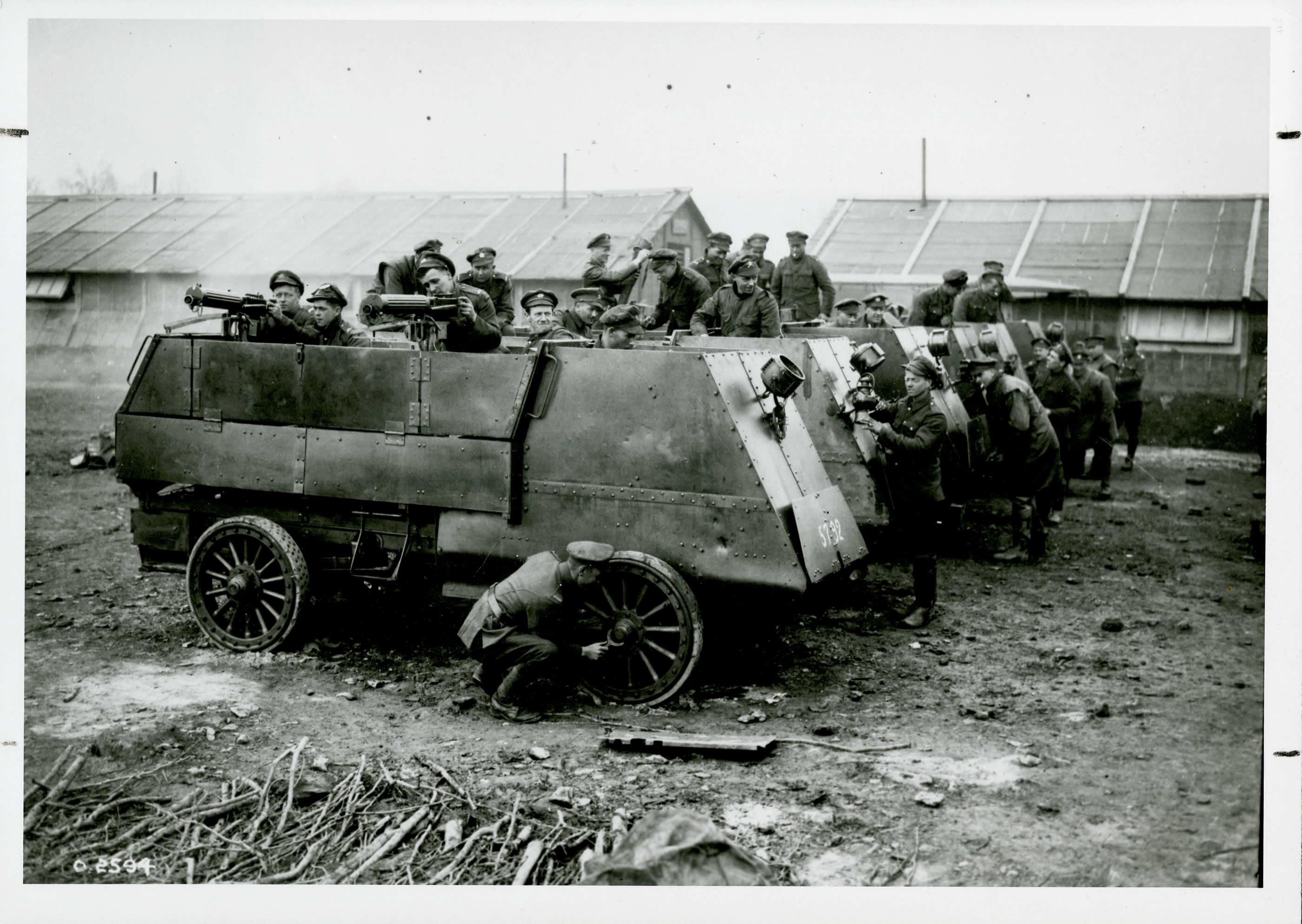 Nettoyage des véhicules blindés