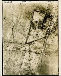 Vue aérienne de tranchées