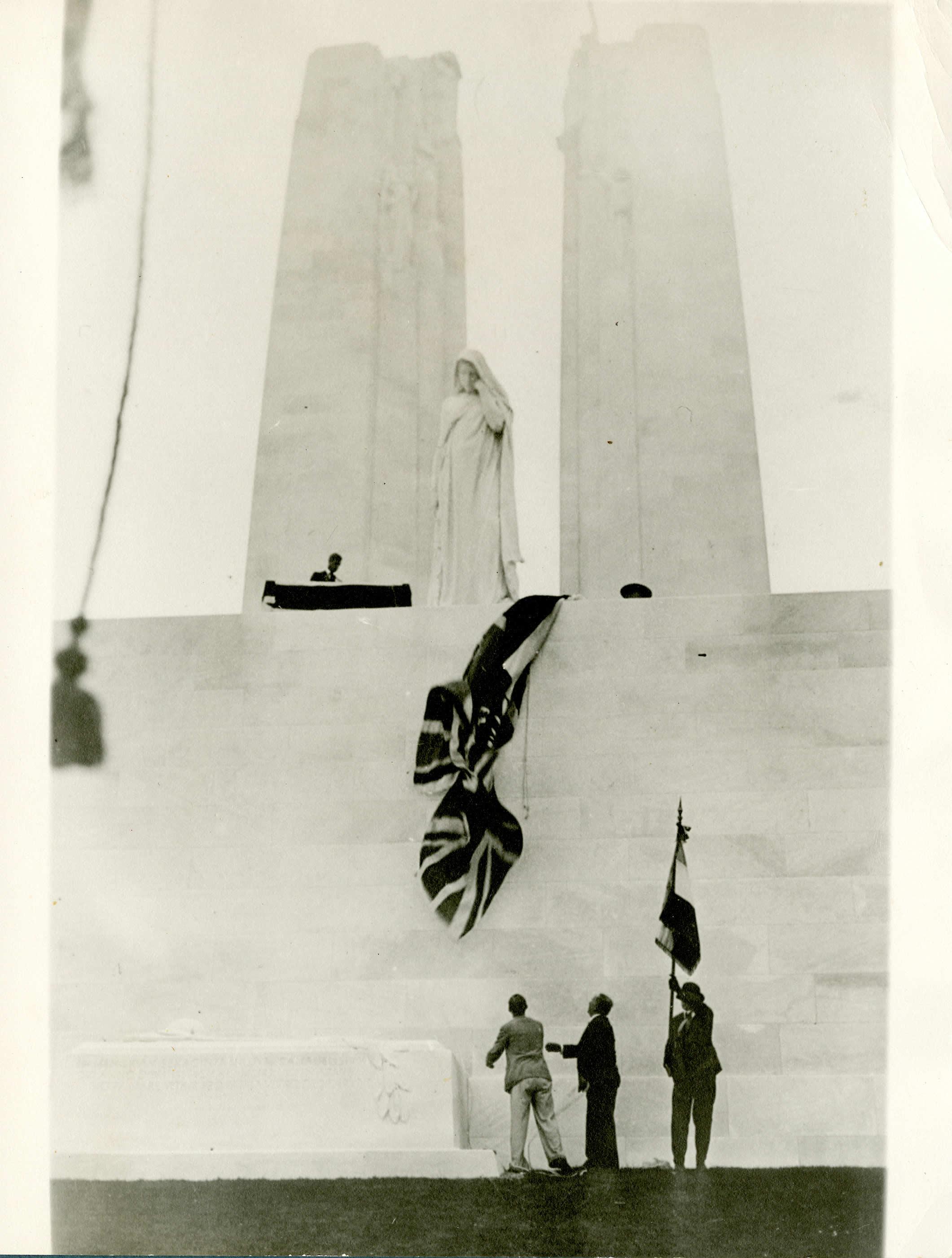 Inauguration du Mémorial de Vimy