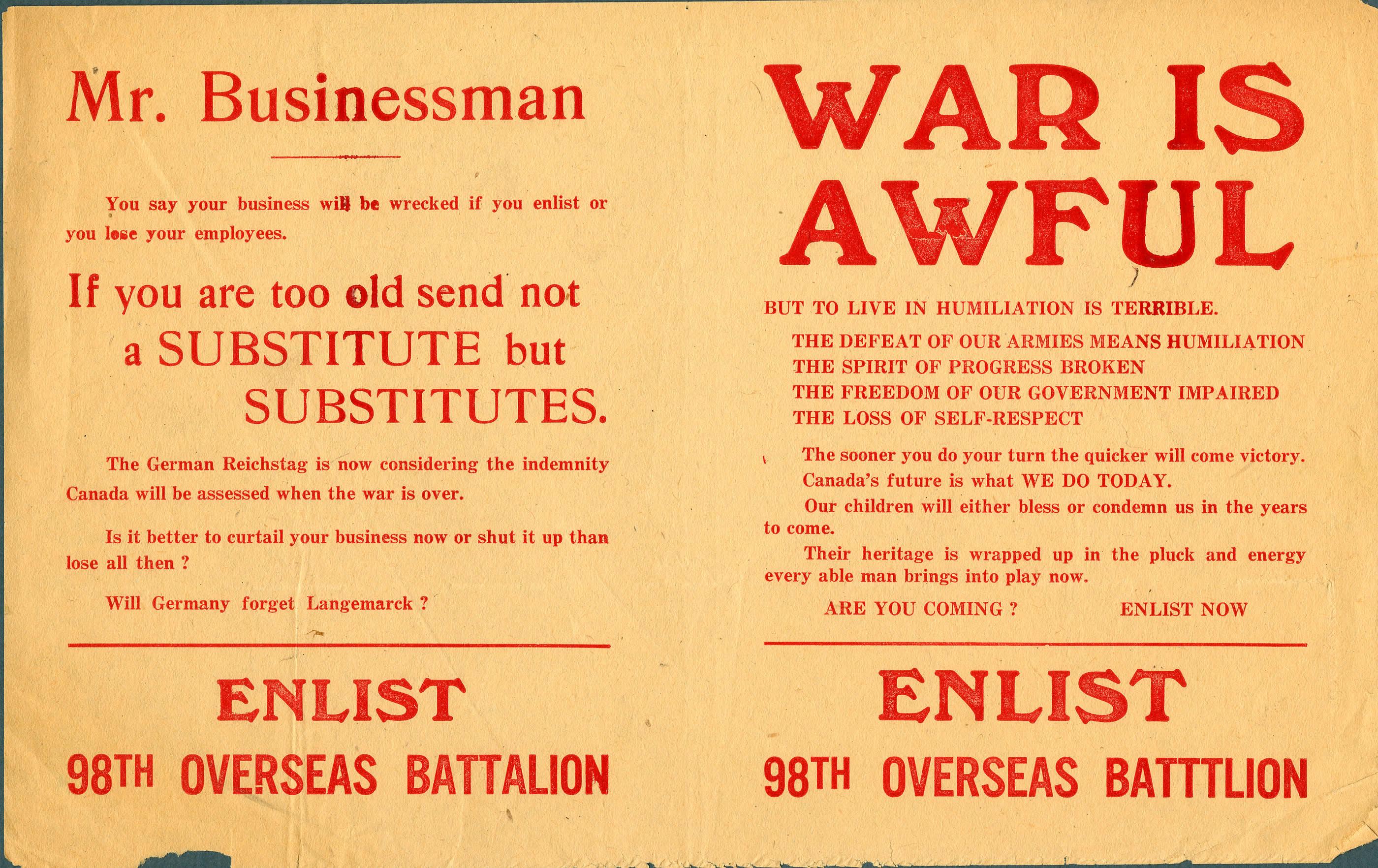 <i>War is Awful (La guerre est atroce)</i>