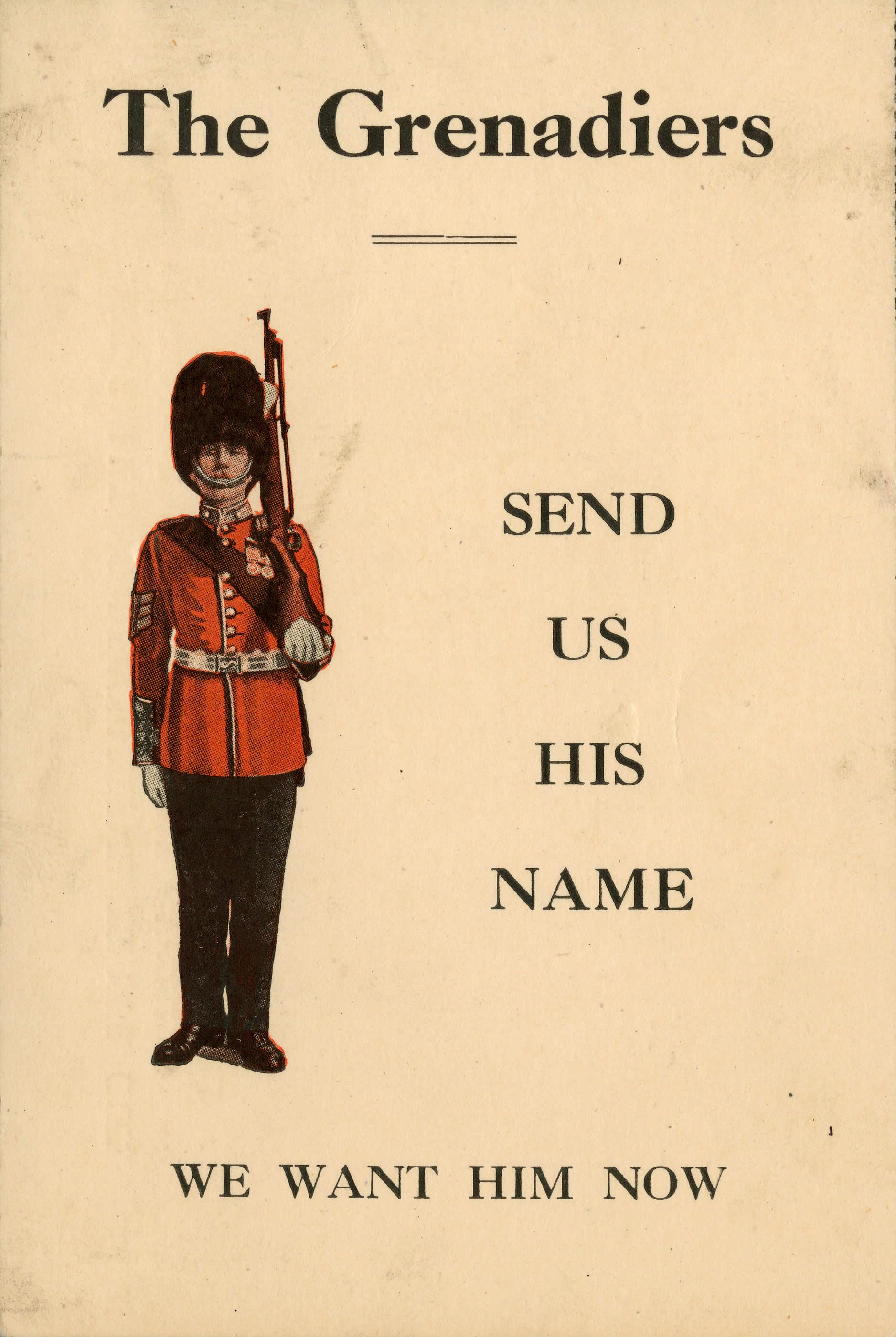 <i>Send Us His Name (Envoyez-nous son nom)</i>