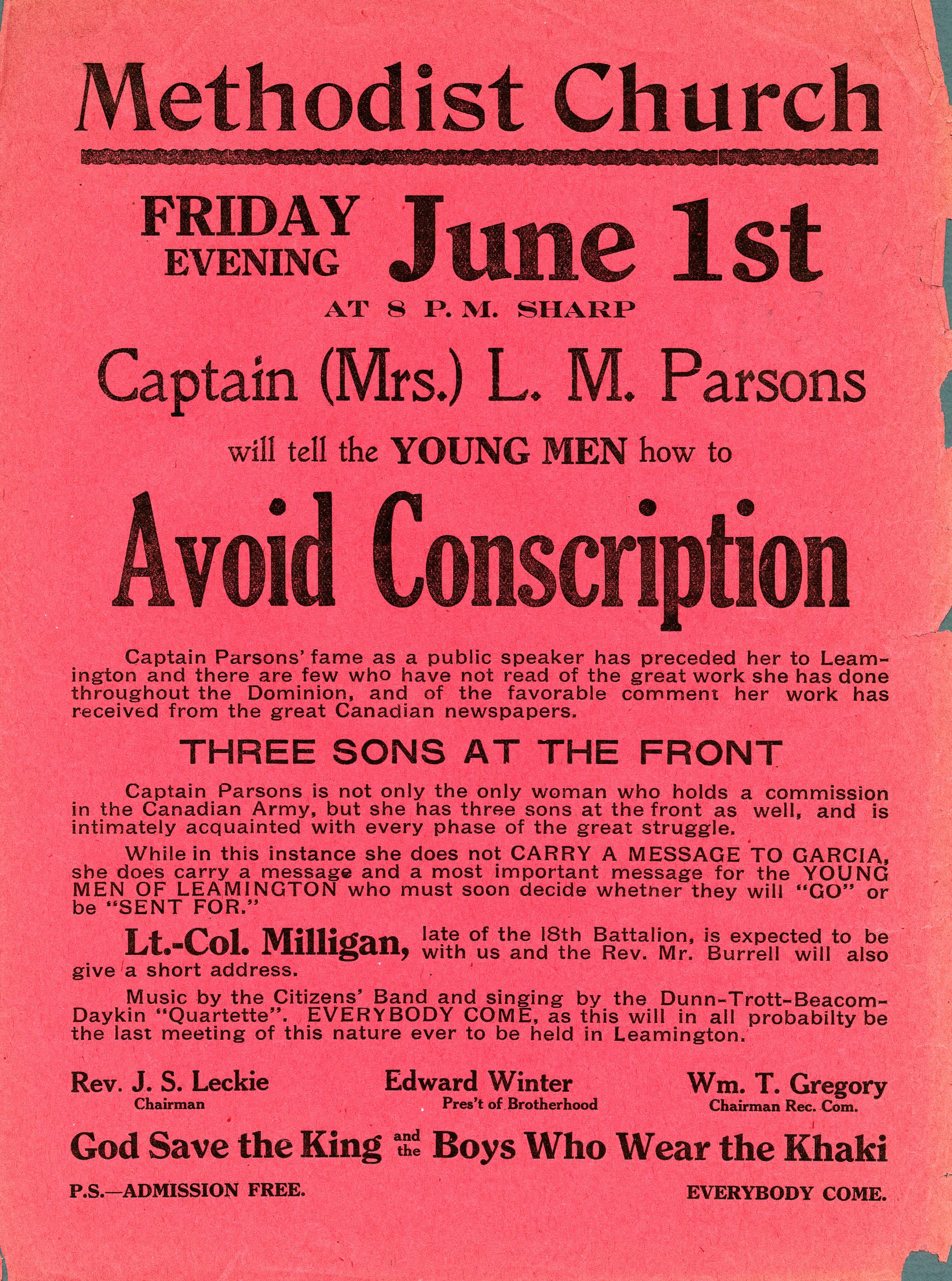 Piège à conscription