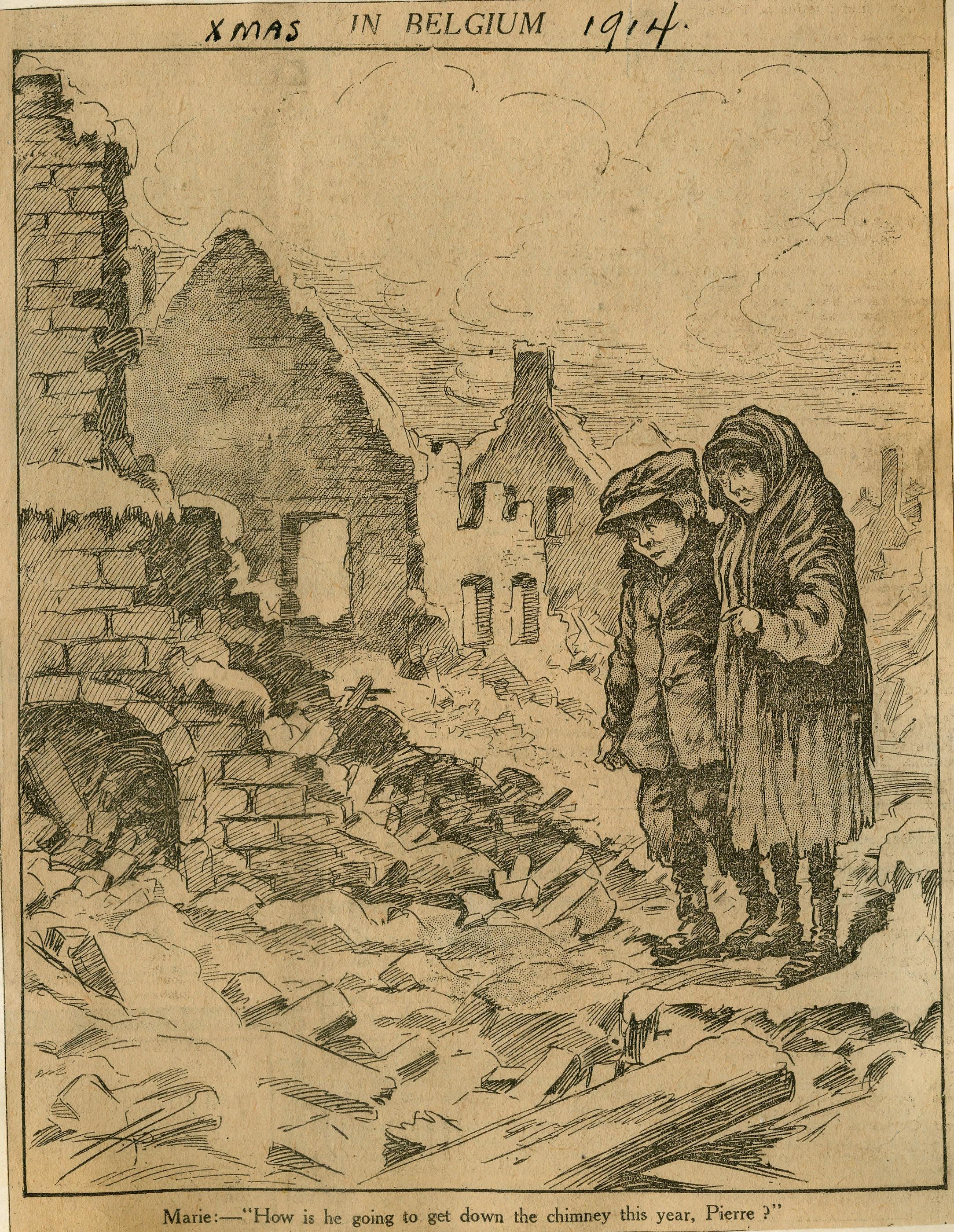 <i>Xmas in Belgium, 1914. (Noël en Belgique, 1914)</i>