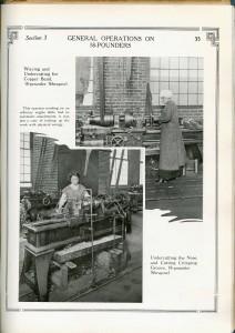 Femmes fabriquant des obus de 18 livres