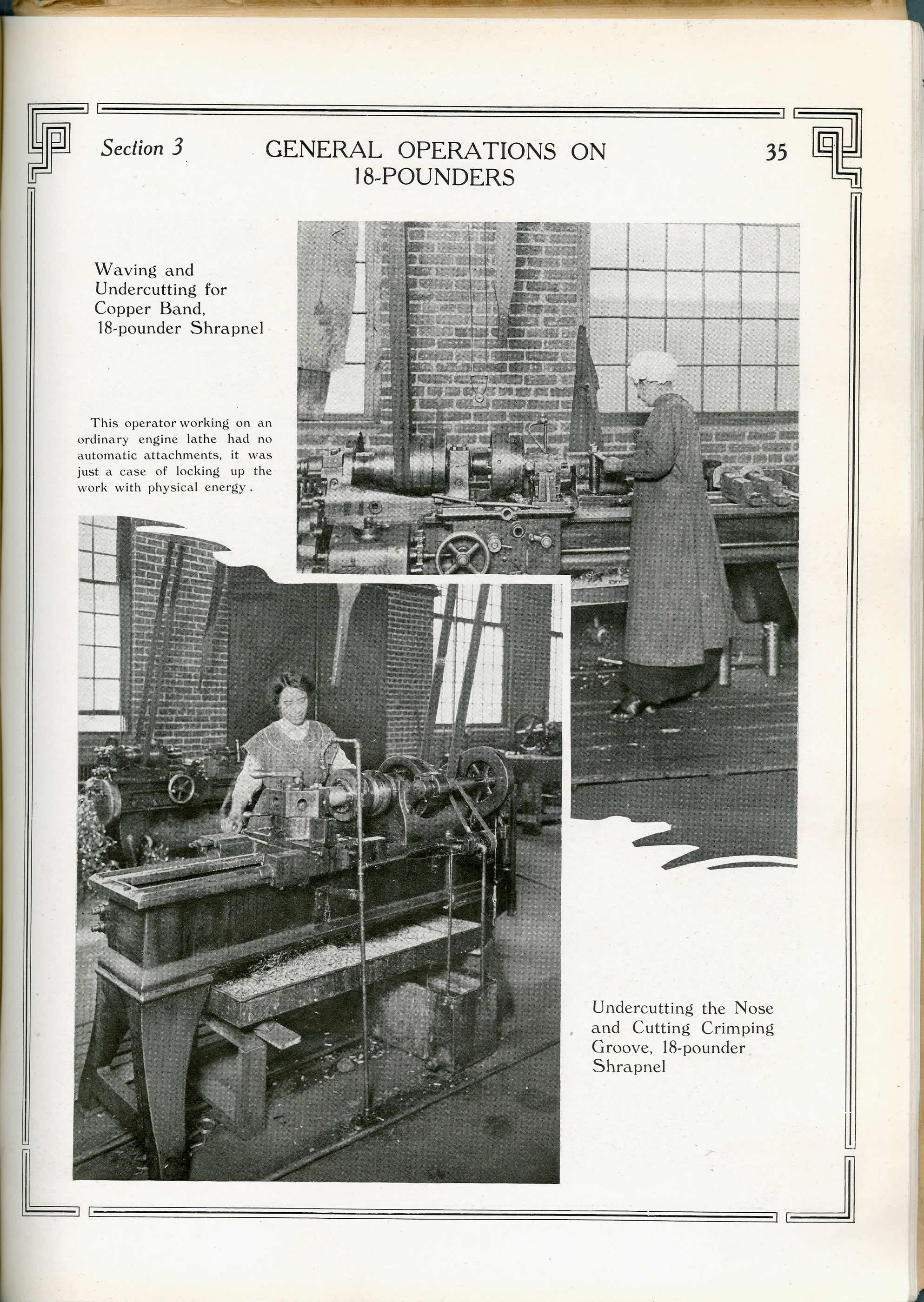 <i>Femmes fabriquant des obus de 18 livres</i>