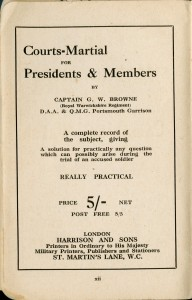 Courts-Martial for Presidents & Members (La cour martiale pour les présidents et les membres)