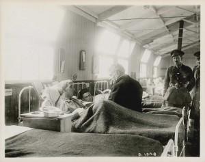 Visite des blessés