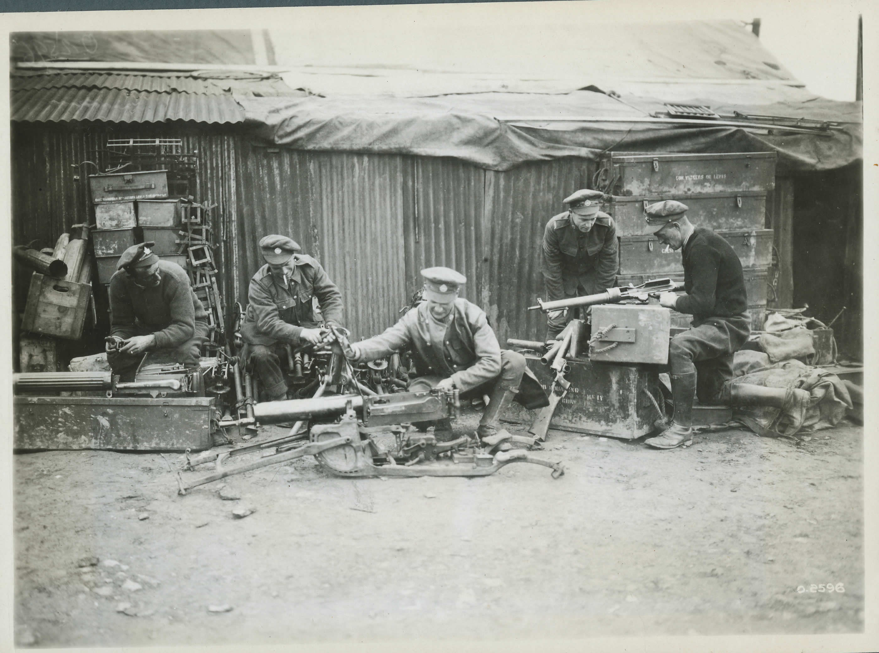 Réparation des mitrailleuses