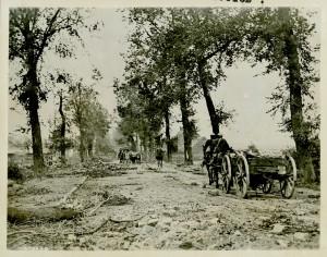 La route d'Arras à Cambrai