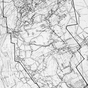 Carte de la crête de Vimy, partie du front de la 4e division canadienne, le 7 avril 1917