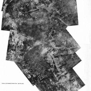 Photographie aérienne de la crête de Vimy, partie du front de la 4e division canadienne, le 7 avril 1917