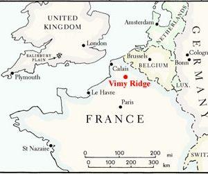 Carte du Nord-Ouest de l'Europe lors de la Première Guerre mondiale, adaptée de D.F.Oliver et L.Brandon, Tableaux de guerre , 2000, p.6