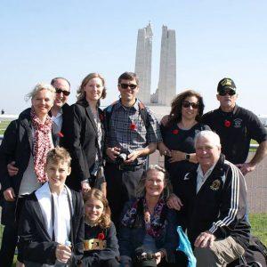 Au Mémorial de Vimy en France