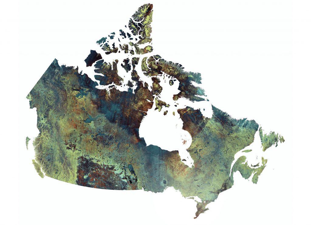 Image par satellite du Canada