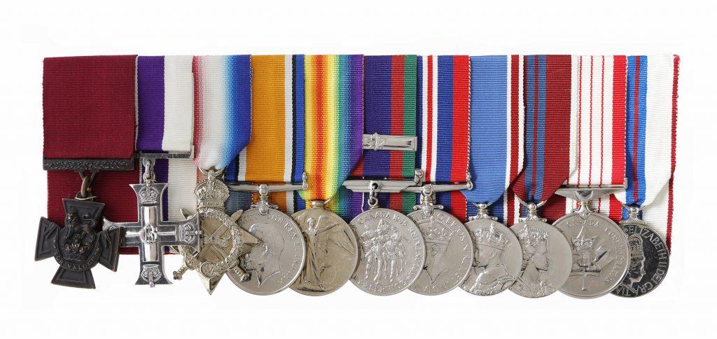 Ensemble de médailles d'Harcus Strachan