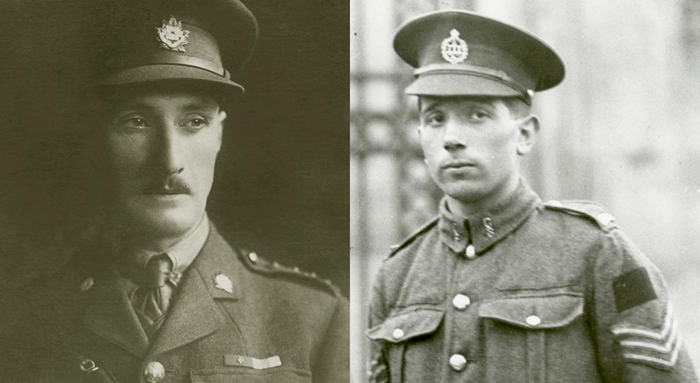 Portraits du lieutenant-colonel Harcus Strachan et du sergent Colin Fraser Barron