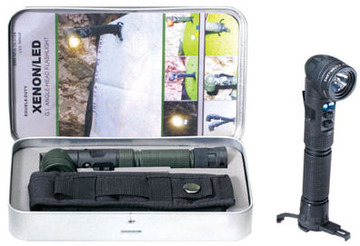 Xenon/LED tactical angle head flashlight:: Lampe de poche tactique avec t