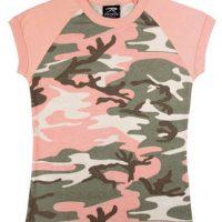 Women's pink camo s/s raglan t-shirt
