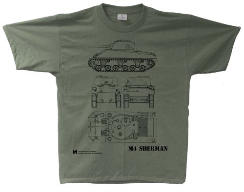 M4 Sherman Blueprint T-Shirt
