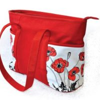 Tote Bag with Poppy Design