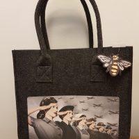 World War Women Felt Hand Bag
