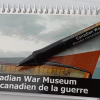Canadian War Museum Spiral Notebook with Pen