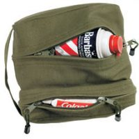 Canvas dual compartment travel/shave kit olive drab