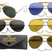 Aviator Air Force style sunglasses with case