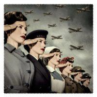 World War Women Eyeglass Fabric