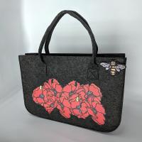 Poppy Felt Shopping Bag